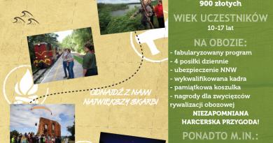 """Obóz w Pogorzelicy """"Akademia odkrywców"""""""